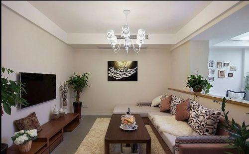欧式田园混搭现代简约温馨客厅设计案例