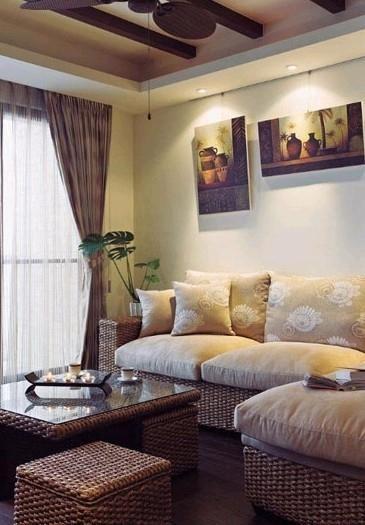 混搭现代沙发茶几装修案例