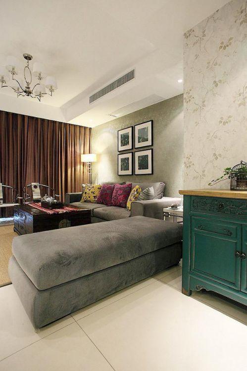 现代简约中式混搭客厅设计案例展示