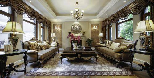 现代简约美式混搭客厅装修效果展示