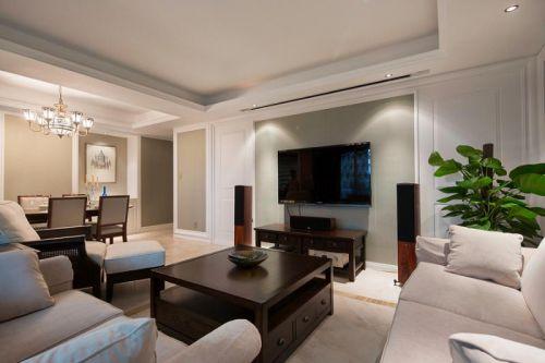 新古典美式混搭精致客厅设计案例展示