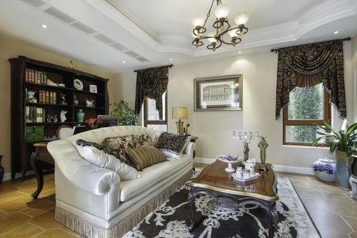 现代简约美式混搭客厅设计图