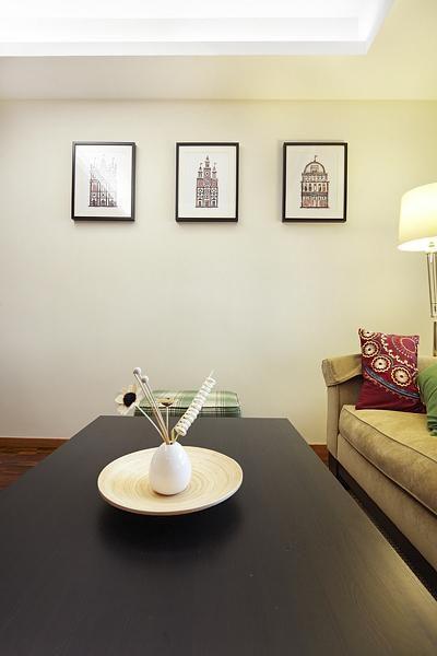 现代简约混搭客厅效果图