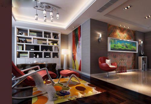 现代简约混搭客厅设计图