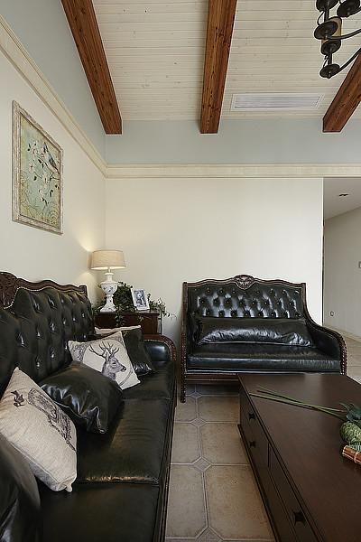 美式混搭复古客厅设计案例