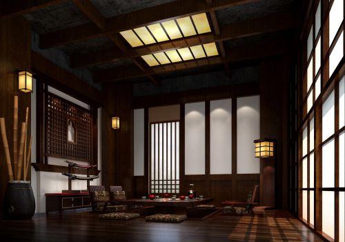中式日式客厅装修效果展示