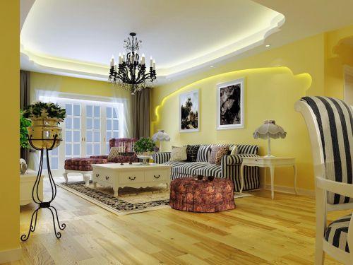 田园简欧客厅设计案例展示