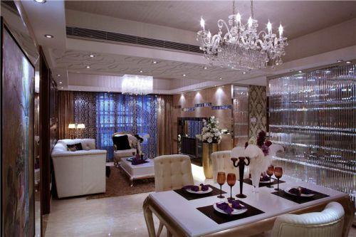 现代简约简欧新古典客厅设计方案
