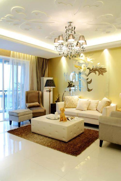 现代简约简欧美式客厅设计图