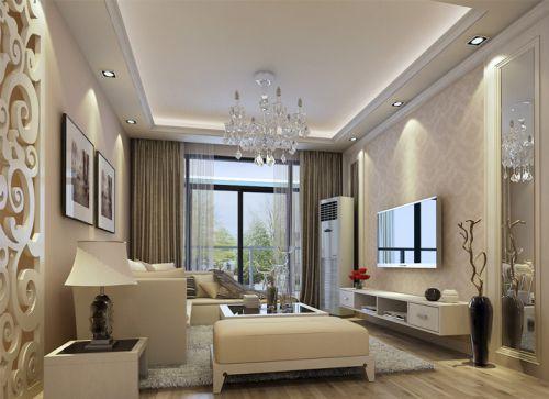 欧式简欧简欧风格客厅吊顶电视背景墙案例展示