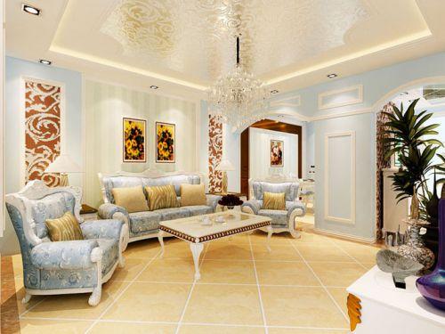 欧式简欧简欧风格客厅吊顶案例展示