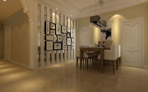 欧式简约餐厅背景墙设计方案