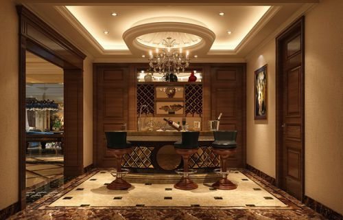 欧式欧式风格吧台酒柜装修案例
