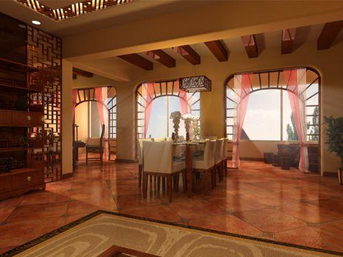 中式餐厅吊顶设计图