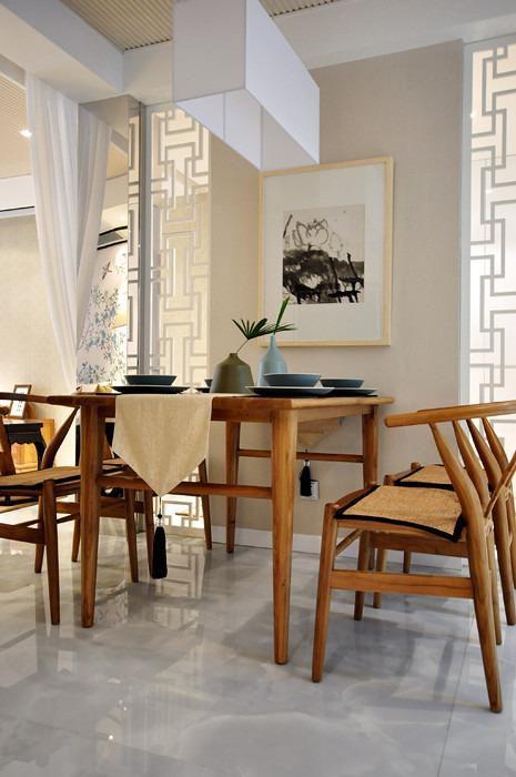 现代简约中式餐厅装修效果展示