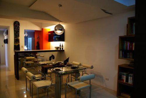 混搭餐厅厨房吧台装修效果展示