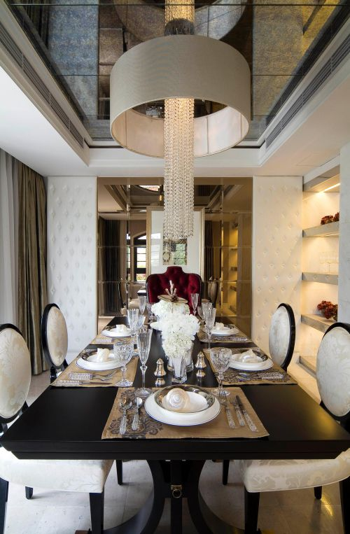 现代简约简欧餐厅设计案例
