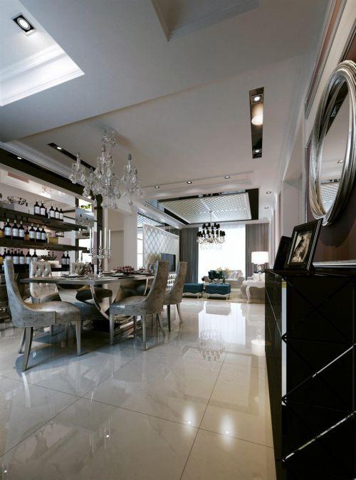现代简约新古典餐厅设计案例