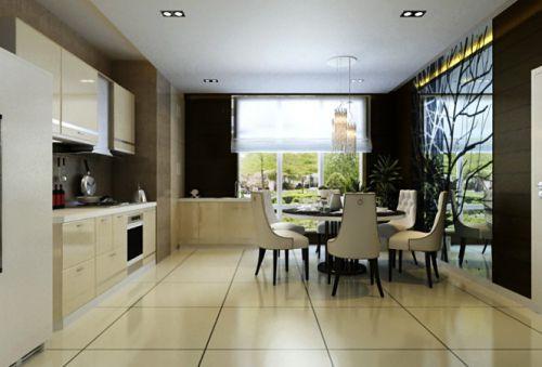 现代简约风格餐厅设计案例展示