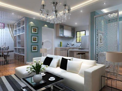 现代简约客厅吧台设计图
