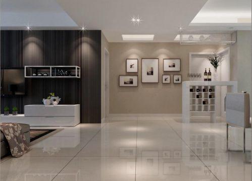 现代简约客厅吧台装修案例