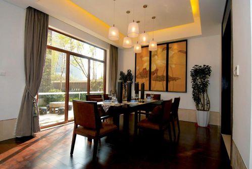 现代简约中式餐厅图片