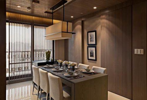 现代简约风格餐厅吊顶案例展示