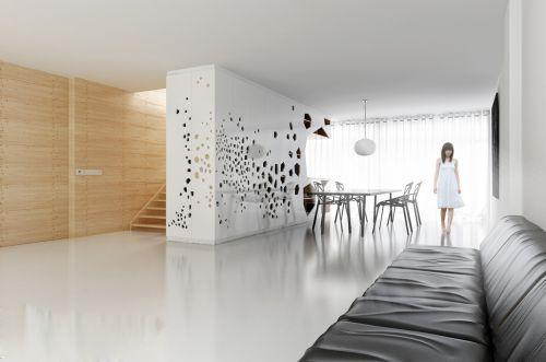 现代简约餐厅吊顶设计案例