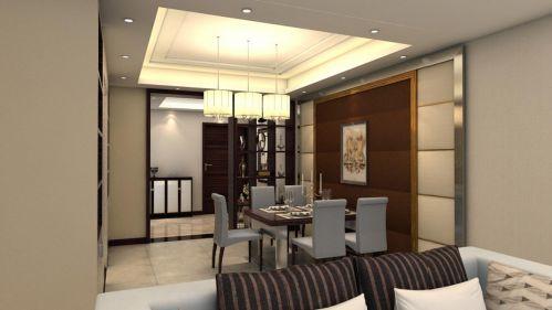 现代简约风格餐厅吊顶装修图