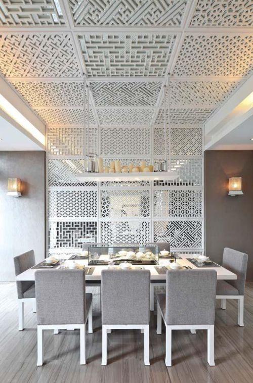 现代简约中式餐厅设计案例