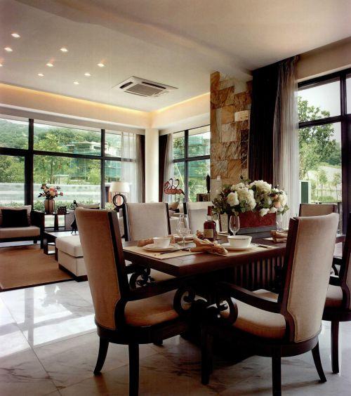 现代简约中式餐厅设计方案