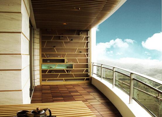 很多人喜欢在阳台上砌水池养鱼
