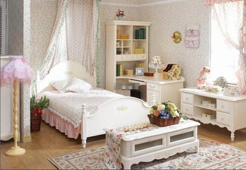 恬淡韩式田园风格卧室装修效果图
