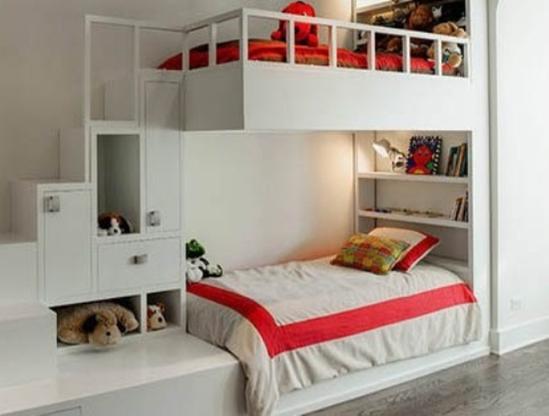 床头的书架设计,养成孩子随时阅读的好习惯