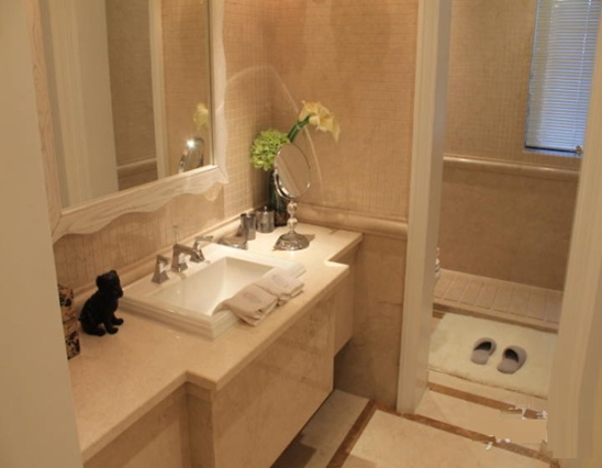 小隔断大作用 卫浴间干湿分离效果图