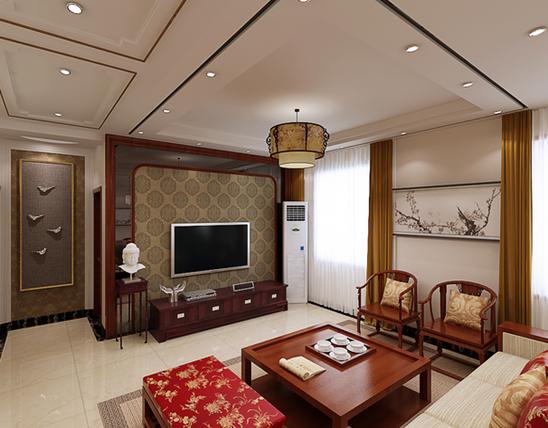 新中式风格鉴赏 新中式风格客厅效果图