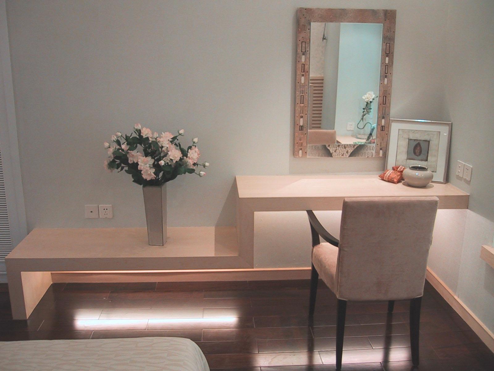 欧式卧室电视柜梳妆台一体