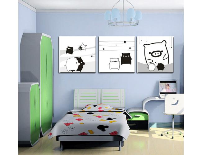 幼儿园侧墙壁水粉装饰画图片大全