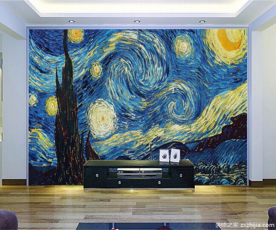 硅藻泥背景墙图片_装修之家网