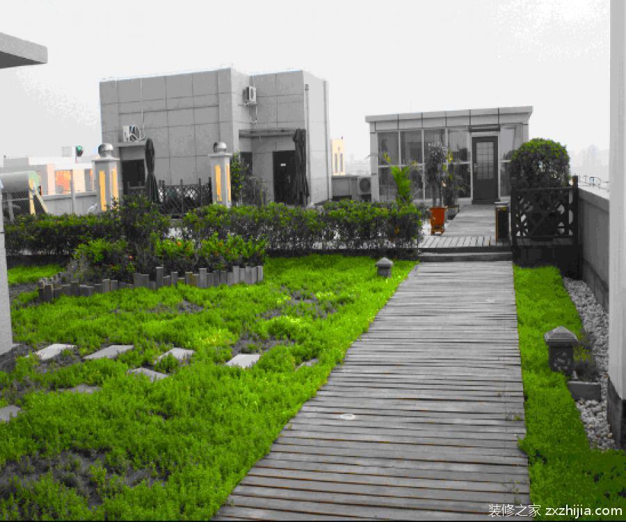 屋顶花园效果图图片