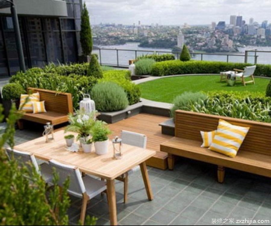 屋顶花园效果图大全
