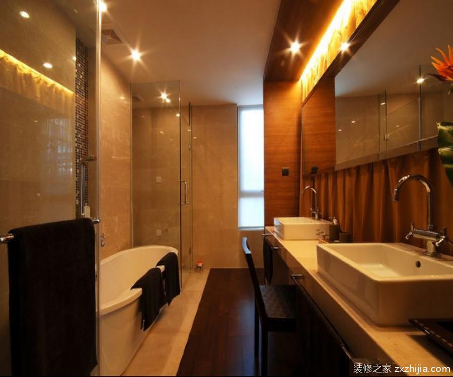 新中式风格卫浴间效果图