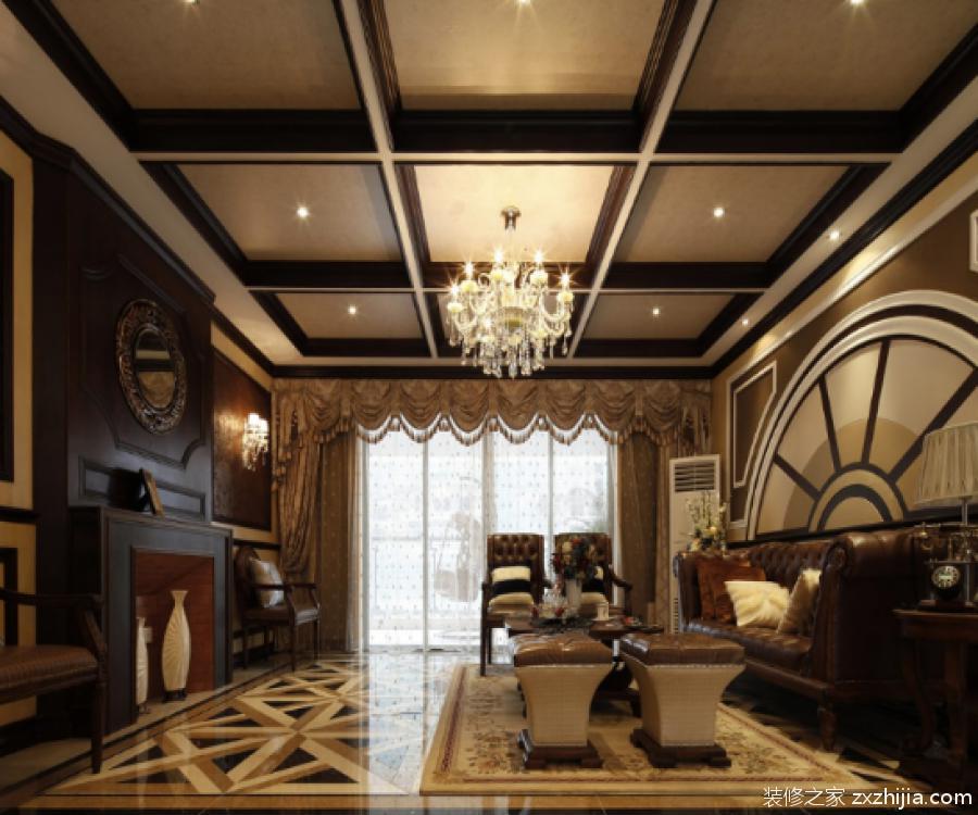 藻井式天花板效果图