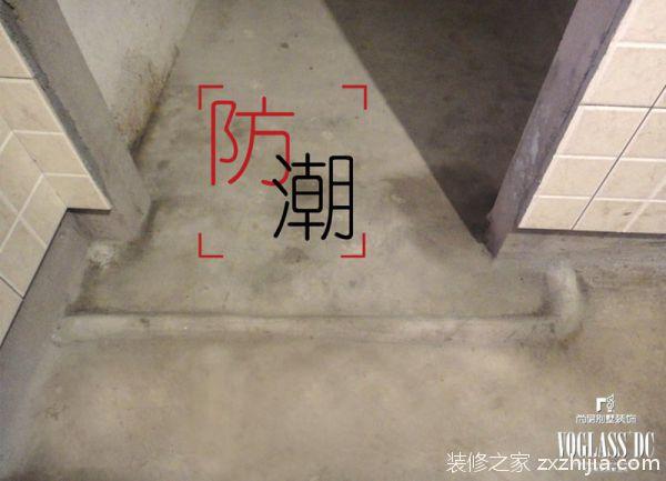 层装饰施工的厨卫门口采用水泥暗护角工艺做法,