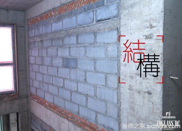 尚层装饰砌筑轻体砖的墙体,在承重墙等可持力层基础上,分高度引入固定点