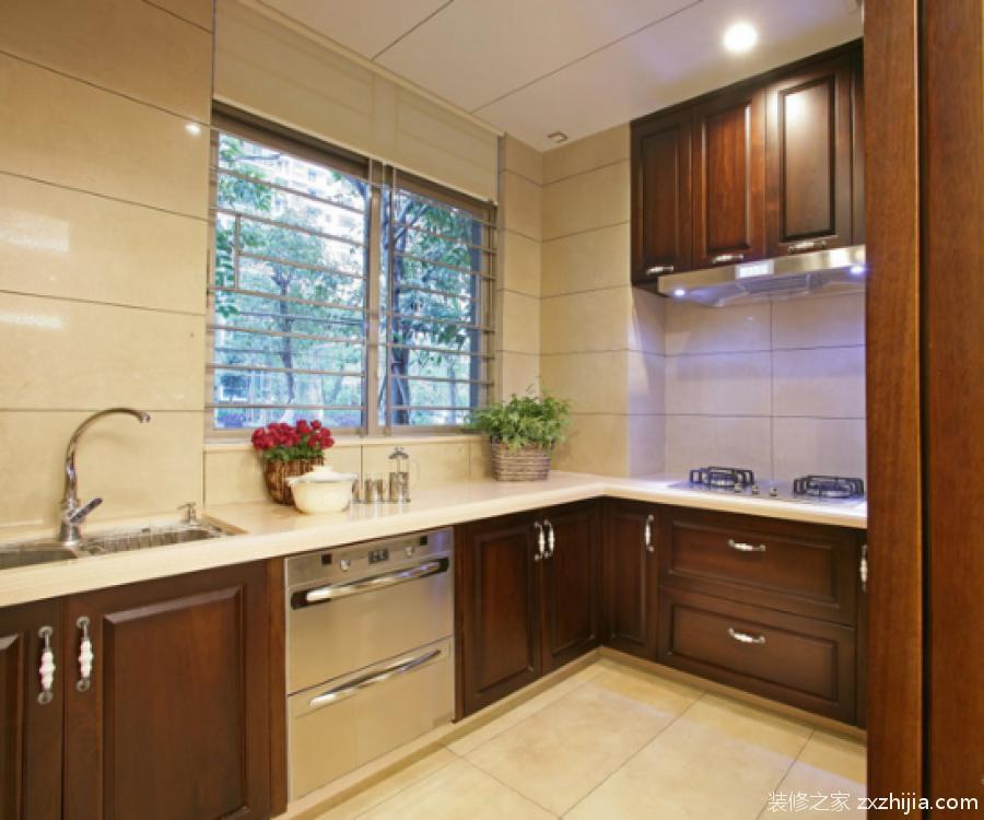 欧式装修厨房油烟机侧吸式效果图