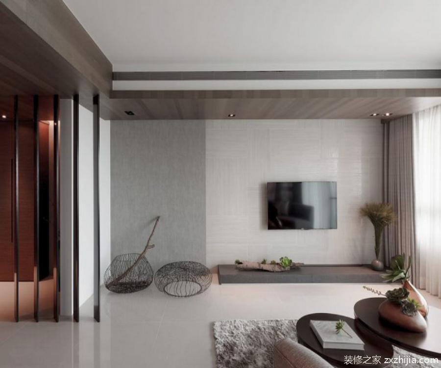 极简主义客厅效果图