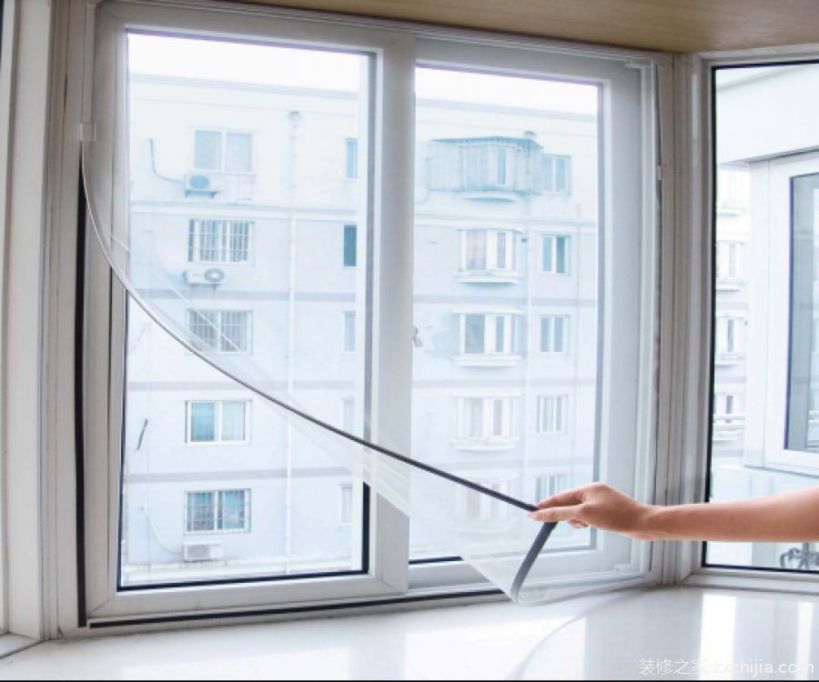 """磁性纱窗,是""""磁性边框可拆卸纱窗""""的通俗叫法."""