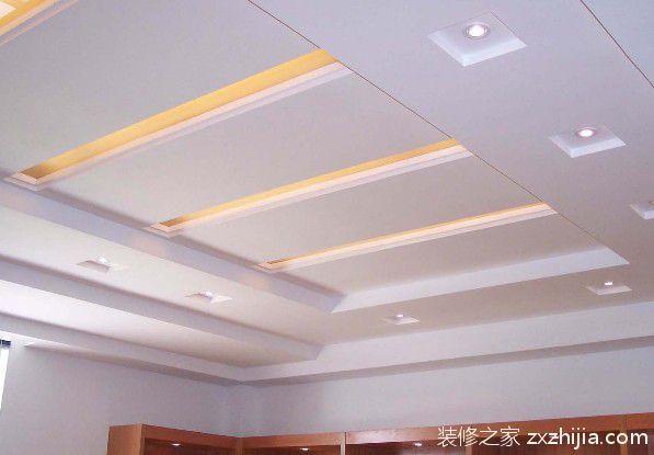 木龙骨,轻钢龙骨混合结构石膏板吊顶