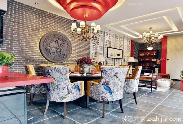 砖石为主的室内创意墙面设计效果图图片